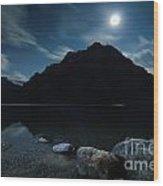 Moon Over Bow Wood Print
