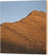 Moon Over Mountain At Sunset Wood Print