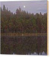 Moon Reflection Wood Print