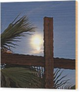 Moon Rising Four Wood Print