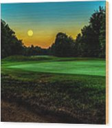 Moon Setting Over The Green Wood Print