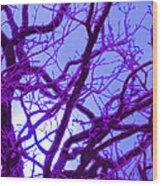 Moon Tree Purple Wood Print