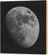 Mooned Wood Print