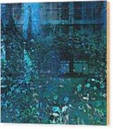 Moonlight In The Garden Wood Print
