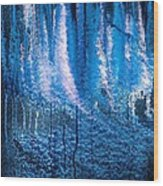 Moonlit Forest Wood Print