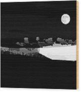 Moonrise Adams Country Wood Print