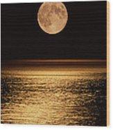 Moonrise Wood Print