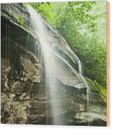 Moore Cove Falls Wood Print