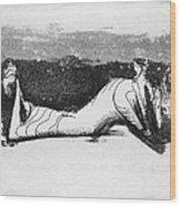 Moore: Reclining Figure Wood Print