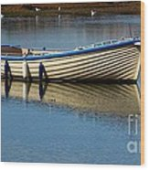 Moored And Ready Wood Print