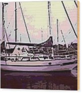 Moored Wood Print