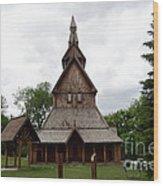 Moorhead Stave Church 1 Wood Print