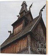 Moorhead Stave Church 11 Wood Print