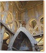 Moorhead Stave Church 17 Wood Print