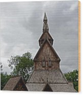 Moorhead Stave Church 2 Wood Print