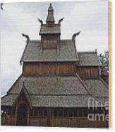 Moorhead Stave Church 5 Wood Print