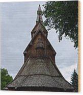Moorhead Stave Church 7 Wood Print