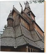 Moorhead Stave Church 8 Wood Print