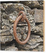 Mooring Ring And Rust Wood Print