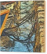 Moorings Wood Print