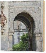 Moorish Arch Of The Giralda In Seville Wood Print