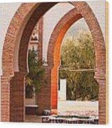 Moorish Arches Wood Print