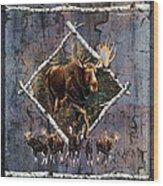 Moose Lodge Wood Print by JQ Licensing
