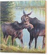 Moose Secrets Wood Print