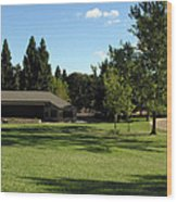 Moraga Commons Band Shell Wood Print