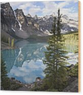 Moraine Lake In The Valley Of The Ten Wood Print