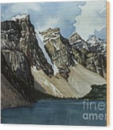 Moraine Lake Wood Print by Scott Nelson