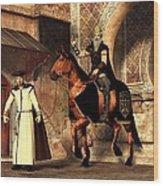 Mordechai And Haman Wood Print