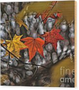 More Autumn Leaves Wood Print