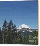 More Mt Rainier Wood Print