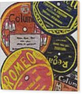 More Old Record Labels  Wood Print