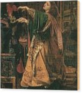 Morgan-le-fay Wood Print by Frederick Sandys