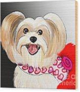 Morkie Valentine  Wood Print