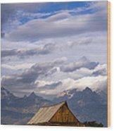 Mormon Barn Morning Wood Print by Joseph Rossbach