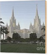 Mormon Cathederal San Diego Wood Print