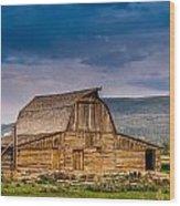 Mormon Row Barn 2 Wood Print