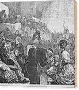 Mormon Service, 1871 Wood Print
