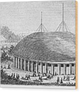 Mormon Tabernacle, 1870 Wood Print