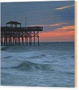 Morning At The Pier Wood Print