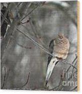 Morning Doves Wood Print