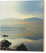Morning Fisherman Wood Print