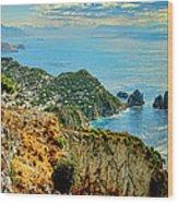 Morning In Capri Wood Print