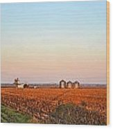Morning In The Heartland Watercolor Photoart II Wood Print