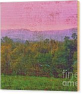 Morning In The Mountains Wood Print