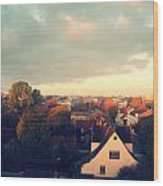 Morning In The Town Wood Print by German Savchishen