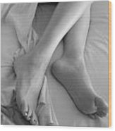 Morning Legs Wood Print by Tos Photos